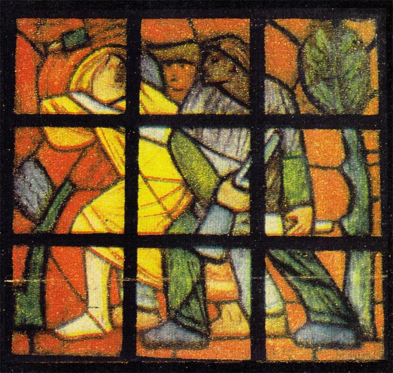 witraż H.Musialowicz z ekspozycji z 1952 roku, ''dookola świata'' 1957