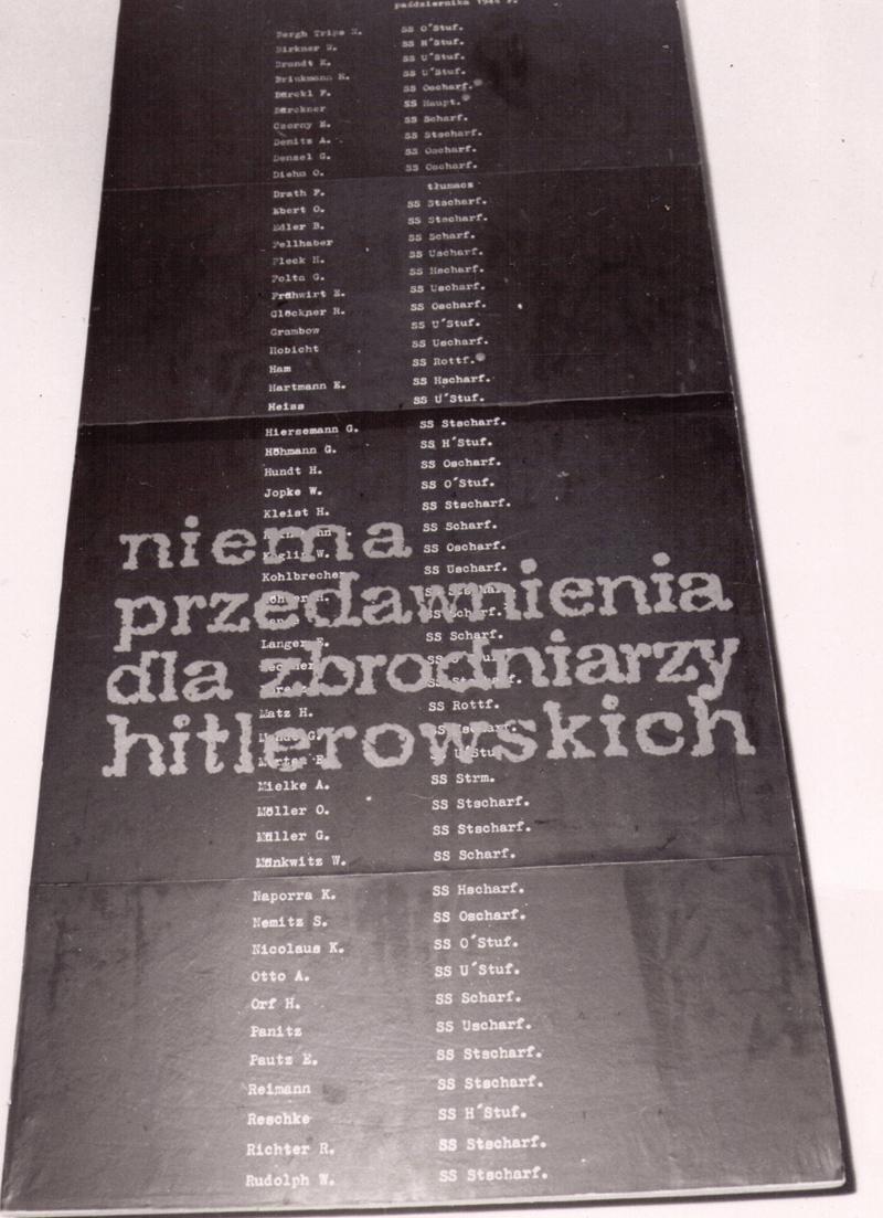 Fragment ekspozycji z 1964 roku_Muzeum Niepodległości