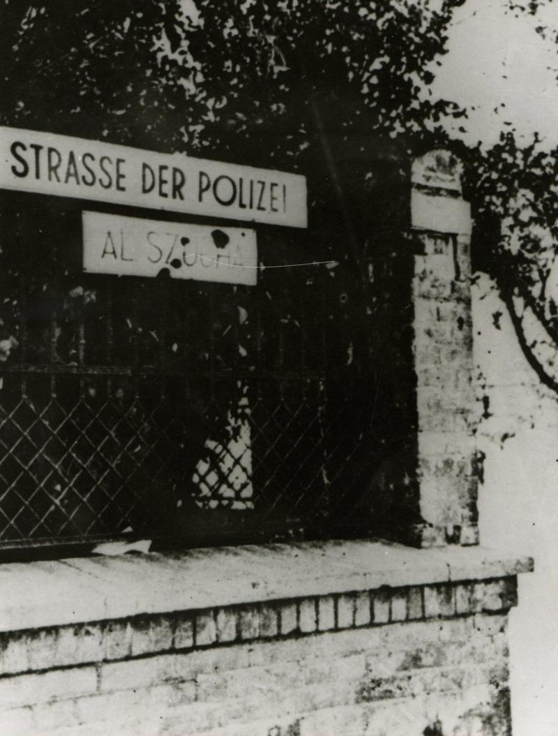aleja  szucha zostła przemianowana przez władze niemieckie w 1941 roku na strasse der polize - ulica policyjna